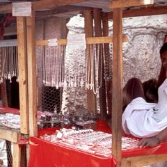 Salesman Selling Silver Jewelry from Mauritania