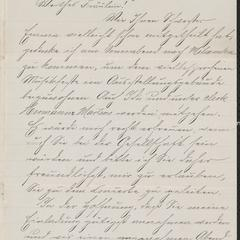 [Letter from Emil Ruedebusch to Julie Sternberger, June 12, 1884]