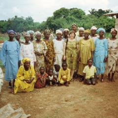 Trager with the Iloko women's organization