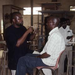 Students working in studio