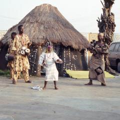 Young dancer at masquerade