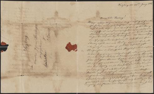 [Letter from cousin Josef to Fräulein Johanna Sternberger, June 25, 1843]