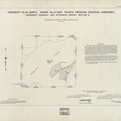 [Public Land Survey System map: Wisconsin Township 34 North, Range 14 East]