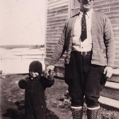 Joe Miron and grandchild