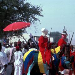 The Emir (Sarki) and His Nobles on Parade During  Sallah