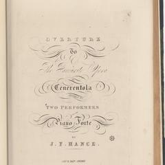 Overture to the favorite opera of Cenerentola