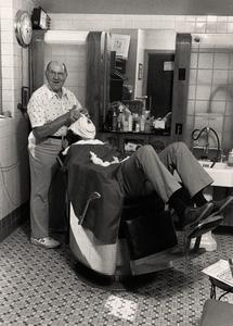 Memorial Union barber shop