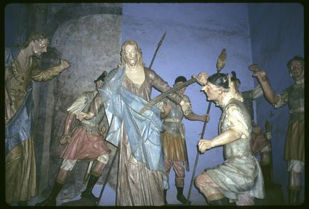 Sculptural group by Aleijandinho, interior Congonhas Basilica
