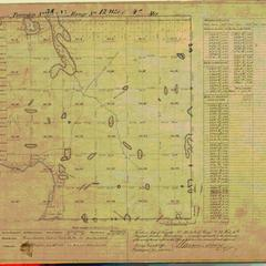 [Public Land Survey System map: Wisconsin Township 38 North, Range 12 West]