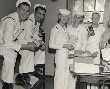 Navy cadets receive care packages