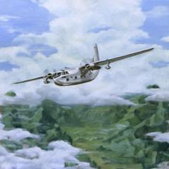 Oil painting : Break in the clouds