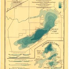 Hydrographic Map of Delavan and Lauderdale Lakes, Walworth County, Wisconsin
