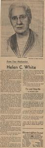 Know your Madisonian - Helen C. White
