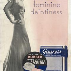 Gauzets 'feminine daintiness' poster