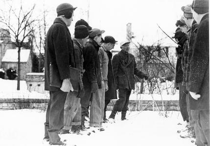Aldo Leopold with students