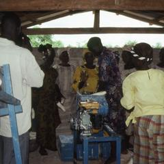 Women's Organization processing gari