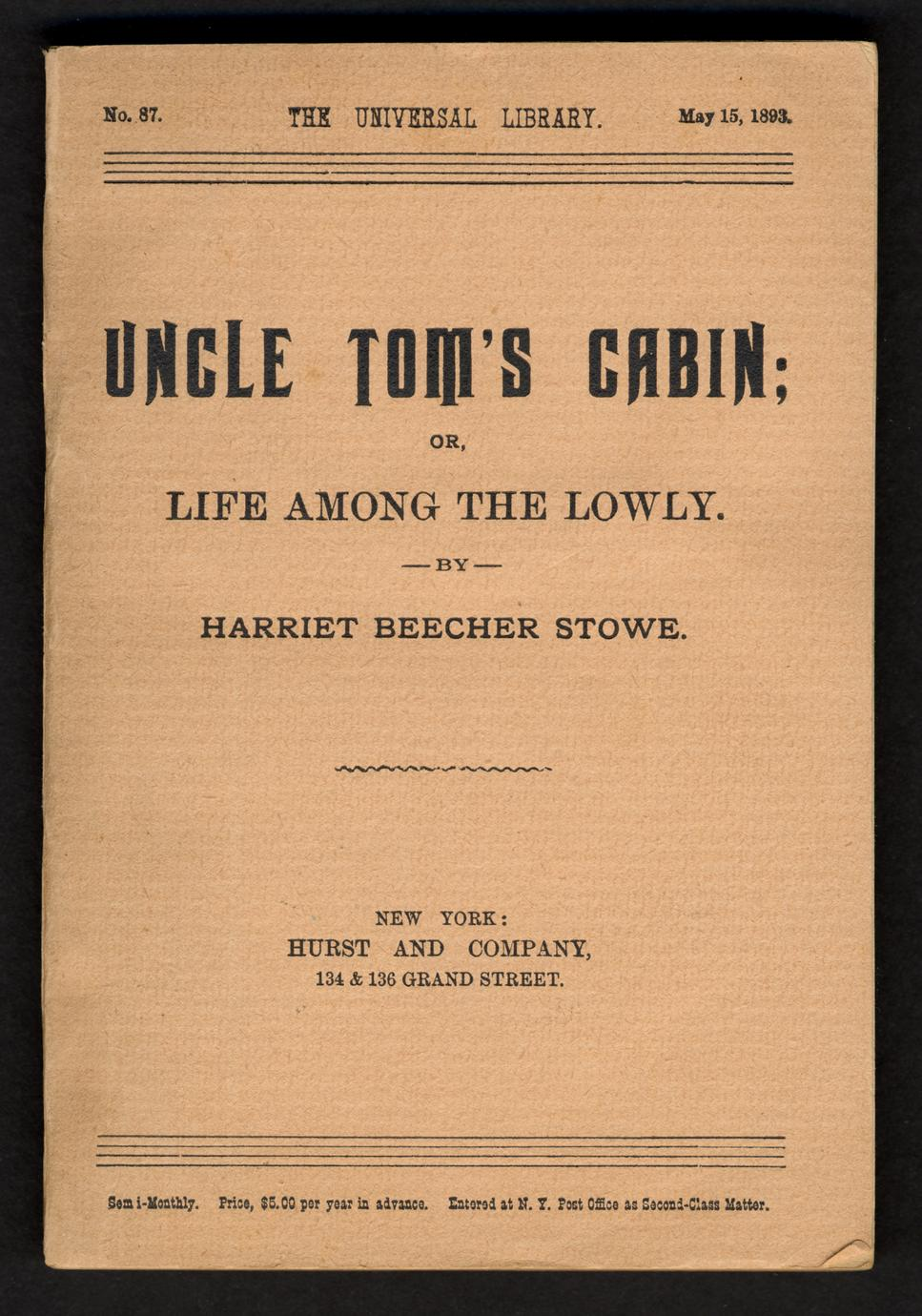 Uncle Tom's cabin; or, Life among the lowly (1 of 3)